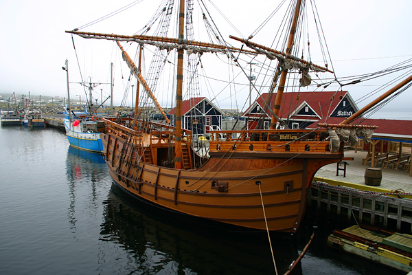This is an old boat (or replica) in Bonavista, where John Cabot landed ...