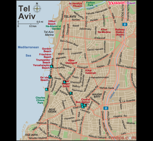 Auscillate Map of Suicide Bombings in Tel Aviv Since 2000